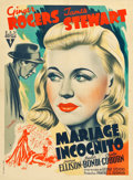"""Movie Posters:Comedy, Vivacious Lady (RKO, 1940s). Post-War French Affiche (23.75"""" X30.75"""").. ..."""