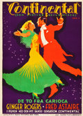 "Movie Posters:Musical, The Gay Divorcee (RKO, 1934). Danish Poster (24.25"" X 33.5"").. ..."
