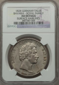 German States:Bavaria, German States: Bavaria. Ludwig I Taler 1828 AU Details (SurfaceHairlines) NGC,...
