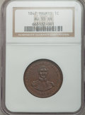 Coins of Hawaii: , 1847 1C Hawaii Cent AU55 NGC. NGC Census: (36/209). PCGS Population(41/267). Mintage: 100,000. ...
