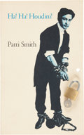 Books:Literature 1900-up, Patti Smith. Ha! Ha! Houdini. New York: Gotham Book Mart,1977. First edition, one of 100 numbered copies signed b...