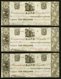 Canadian Currency: , Kingston, UC- Commercial Bank $2/10 Shillings June 26, 1837 Ch. # 145-10-02-04 Three Examples. ... (Total: 3 notes)