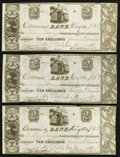 Canadian Currency: , Kingston, UC- Commercial Bank $2/10 Shillings June 14, 1837 Ch. # 145-10-02-04 Three Consecutive Examples. ... (Total: 3 notes)