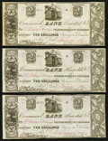 Canadian Currency: , Kingston, UC- Commercial Bank $2/10 Shillings June 26, 1837 Ch. #145-10-02-04 Three Examples. ... (Total: 3 notes)