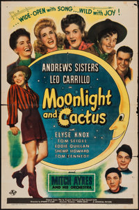 "Moonlight and Cactus (Universal, 1944). One Sheet (27"" X 41"") & Lobby Cards (6) (11"" X 14"")..."