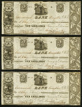 Canadian Currency: , Kingston, UC- Commercial Bank $2/10 Shillings June 17, 1837 Ch. #145-10-02-04 Three Examples. ... (Total: 3 notes)