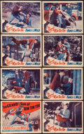 "Movie Posters:Adventure, Fangs of the Wild (Astor, 1942). Lobby Card Set of 8 (11"" X 14"").Adventure.. ... (Total: 8 Items)"