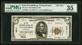 National Bank Notes:Pennsylvania, East Stroudsburg, PA - $5 1929 Ty. 2 The East Stroudsburg NB Ch. #4011. ...