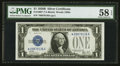 Small Size:Silver Certificates, Fr. 1602* $1 1928B Silver Certificate. PMG Choice About Unc 58 EPQ.. ...