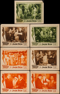 "The Jade Box (Universal, 1930). Lobby Cards (7) (11"" X 14"") Chapter 8 -- ""The Grip of Death,"" Chapte..."