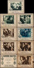 """Movie Posters:Serial, The Diamond Master (Universal, 1929). Title Lobby Card (11"""" X 14"""") Chapter 1 -- """"A Secret of the Night,"""" & Lobby Cards (8) (... (Total: 9 Items)"""