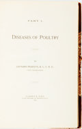 Books:Medicine, Leonard Pearson. Diseases of Poultry. Clarence M. Busch, 1897. Contemporary three-quarter calf. All edges gilt. Spin...