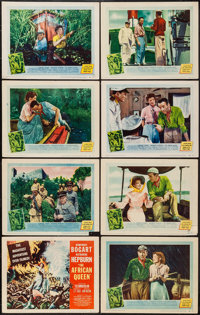 """The African Queen (United Artists, 1952). Lobby Card Set of 8 (11"""" X 14""""). Adventure. ... (Total: 8 Items)"""