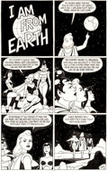 "Original Comic Art:Panel Pages, Jaime Hernandez Penny Century #5 1-Page Story ""I Am FromEarth"" Original Art (Fantagraphics, 1999)...."