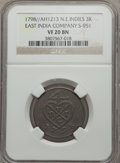 Netherlands East Indies, Netherlands East Indies: British United East india Co. 3 Kepings AH1213 (1798) VF20 BN NGC...