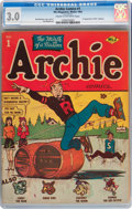 Golden Age (1938-1955):Humor, Archie Comics #1 (Archie, 1942) CGC GD/VG 3.0 Cream to off-white pages....