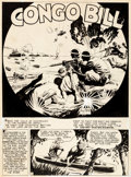 Original Comic Art:Splash Pages, Fred Ray Action Comics #48 Congo Bill Splash Page 1 OriginalArt (DC, 1942)....