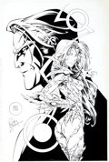 Original Comic Art:Covers, Randy Green and Duy Truong (as D-Tron) Witchblade #26 CoverOriginal Art (Image, 1998)....