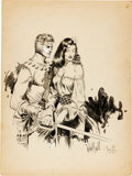 Original Comic Art:Covers, Al Williamson and Frank Frazetta Homage to FlashGordon Illustration Original Art (c. 1953)....
