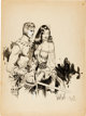 Al Williamson and Frank Frazetta Homage to Flash Gordon Illustration Original Art (c. 1953)