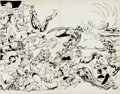 Original Comic Art:Covers, Alan Davis and Paul Neary Excalibur #14 Wrap-Around CoverOriginal Art (Marvel, 1987)....