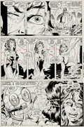Original Comic Art:Panel Pages, Jim Lee and Dan Green Uncanny X-Men #248 Page 15 OriginalArt (Marvel, 1989)....