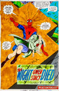 Original Comic Art:Miscellaneous, Amazing Spider-Man #121 Splash Page 20 Color GuideProduction Art (Marvel, 1973)....