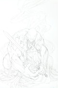 Original Comic Art:Covers, Michael Turner Spider-Man / Red Sonja #3 Venom Cover Original Art (Marvel, 2007)....