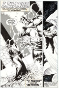 "Original Comic Art:Splash Pages, Shawn McManus Marvel Comics Presents #111 ""I, Thanos: Part4: Betrayal"" Splash Page 1 Original Art (Marvel, 1992)...."