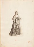 Books:Art & Architecture, Wencelaus Hollar. Ornatus Muliebris Anglicanus, or, The Severall Habits of English Women. From the Nobili(tie) to ...