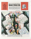 "Original Comic Art:Splash Pages, Al Jaffee - Mad #186 Fold-In Back Cover Original Art (EC, 1976). AlJaffee's fold-in asks ""What important executive position..."