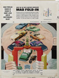 "Original Comic Art:Splash Pages, Al Jaffee - Mad #194 Fold-In Back Cover Original Art (EC, 1977). AlJaffee's fold-in asks ""What popular source of energy is ..."