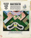 "Original Comic Art:Splash Pages, Al Jaffee - Mad #197 Fold-In Back Cover Original Art (EC, 1978). AlJaffee's fold-in asks ""What infectious foreign invasion ..."