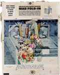 "Original Comic Art:Splash Pages, Al Jaffee - Mad #203 Fold-In Back Cover Original Art (EC, 1978). AlJaffee's fold-in asks ""What former world champ is taking..."