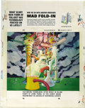 "Original Comic Art:Splash Pages, Al Jaffee - Mad #214 Fold-In Back Cover Original Art (EC, 1980). AlJaffee's fold-in asks ""What scary new form of fallout ha..."