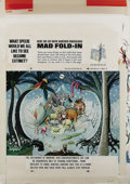 "Original Comic Art:Splash Pages, Al Jaffee - Mad #215 Fold-In Back Cover Original Art (EC, 1980). AlJaffee's fold-in asks ""What specie would we all like to ..."