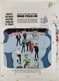"Original Comic Art:Splash Pages, Al Jaffee - Mad Super Special #48 Fold-In Back Cover Original Art(EC, 1984). Al Jaffee's fold-in asks ""What's the most exci..."