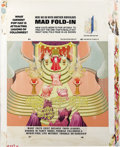 "Original Comic Art:Splash Pages, Al Jaffee - Mad #263 Fold-In Back Cover Original Art (EC, 1986). AlJaffee's fold-in asks ""What current pop cult is attracti..."