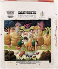 "Original Comic Art:Splash Pages, Al Jaffee - Mad #275 Fold-In Back Cover Original Art (EC, 1987). AlJaffee's fold-in asks ""What predatory creatures most thr..."