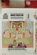 "Original Comic Art:Splash Pages, Al Jaffee - Mad #282 Fold-In Back Cover Original Art (EC, 1988). AlJaffee's fold-in asks ""What hurdle must all Olympic athl..."