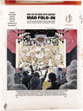 "Original Comic Art:Splash Pages, Al Jaffee - Mad #285 Fold-In Back Cover Original Art (EC, 1989). Al Jaffee's fold-in asks ""What's the worst poison spewing o..."