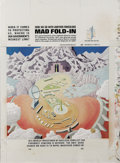 "Original Comic Art:Splash Pages, Al Jaffee - Mad #291 Fold-In Back Cover Original Art (EC, 1989). AlJaffee's fold-in asks ""When it comes to protecting us, w..."