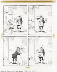 Don Martin - Mad #223 Complete 1-page Story Original Art, Group of 3 (EC, 1981). Three gut-busting gag stories by Don Ma...