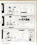 """Original Comic Art:Miscellaneous, Don Martin - Mad #261 Complete 1-page Story """"One Wednesday Morning in Roxbury Connecticut"""" Original Art (EC, 1986). Wrong re..."""