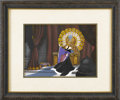 "Animation Art, Wicked Queen ""Snow White and the Seven Dwarfs"" Hand Painted Production Cel with Presentation Background Original Art (Walt Dis..."