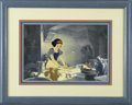 "Animation Art, ""Snow White and the Seven Dwarfs"" Hand Painted Production Cel withPresentation Background Original Art (Walt Disney, 1937)...."
