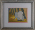 "Animation Art, ""Dumbo"" Production Cel and Background Original Art (Walt Disney,1941). Timothy, the quick-thinking little mouse, has convin..."