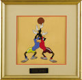 "Animation Art, Goofy ""Double Dribble"" Production Cel Original Art (Walt Disney,1946). The Goofs have both the ball and the opposing player..."