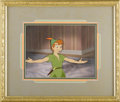 "Animation Art, ""Peter Pan"" Production Cel with Matching Production BackgroundOriginal Art (Walt Disney, 1953). Peter Pan takes to the lime..."