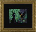 "Animation Art, Maleficent and the Raven ""Sleeping Beauty"" Production Cel withPresentation Background Original Art (Walt Disney, 1959). Eer..."